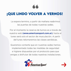 Reapertura de American Sport